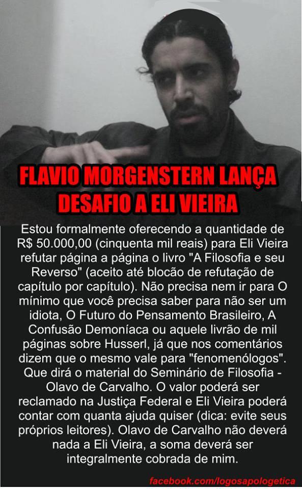 Flavio Morgenstern lança desafio a Eli Vieira