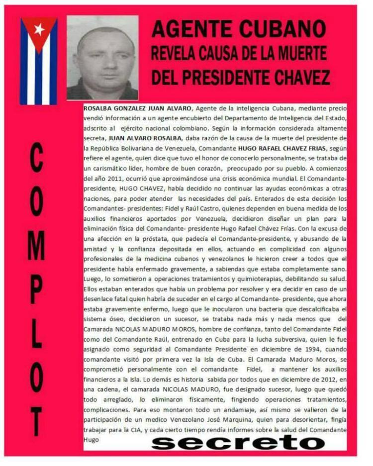 Agente Cubano revela la causa de la muerte del Presidente Chávez