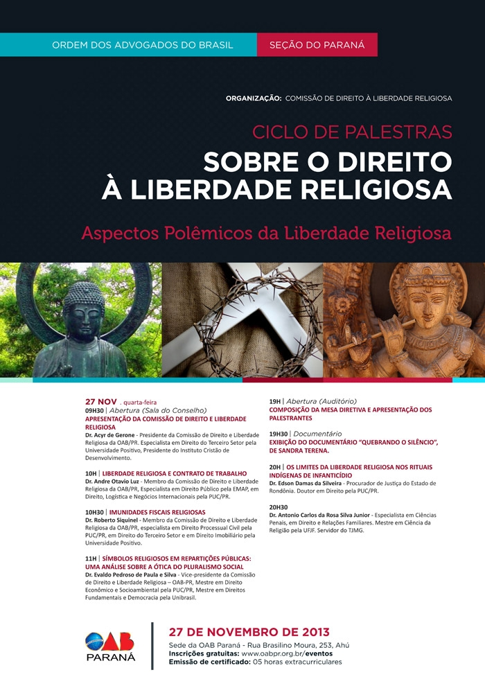 Ciclo de Palestras – Comissão da OAB de Direito e Liberdade Religiosa